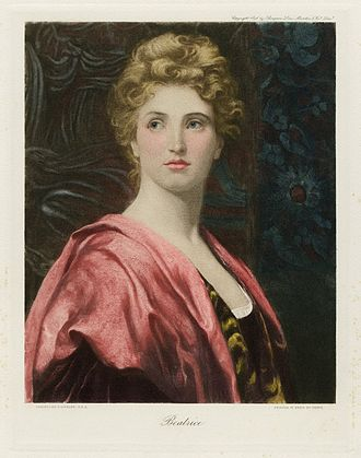 Much Ado About Nothing - A painting of Beatrice by Frank Dicksee, from The Graphic Gallery of Shakespeare's Heroines