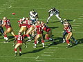 Shaun Hill passes at at Rams at 49ers 11-16-08 1.JPG
