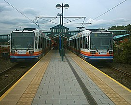 Sheffield Supertram - Meadowhall Interchange 07-07-04.jpg