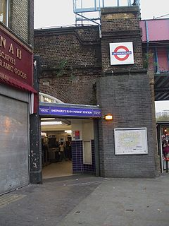 Shepherd's Bush Market stn west entrance.JPG