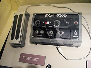 Uni-Vibe - Shin-ei Uni-Vibe (c.1968)  once owned by Jimi Hendrix  (exhibited at Experience Music Project)