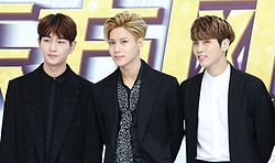 onew taemin and jonghyun at the 23rd dongfang music awards in shanghai