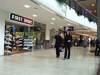 Overgate Centre - Stores inside the glass-fronted portion of the Overgate Centre.