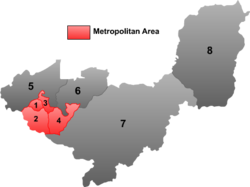 "Location of Lingdong (""2"") within Shuangyashan City"