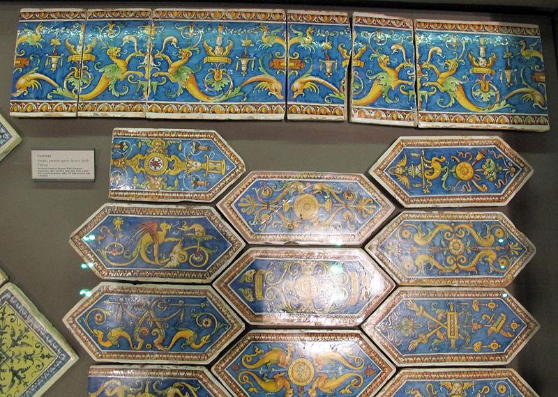 File:Siena, mattonelle in maiolica da un pavimento, 1500-1525 ca. 01.JPG