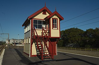 Paekakariki railway station - Signal House, Paekakariki railway station