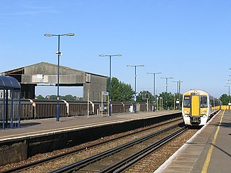 Sittingbourne - A British Rail Class 375 unit at Sittingbourne railway station.