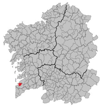 Nigrán - Image: Situacion Nigrán
