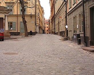 Själagårdsgatan - Själagårdsgatan viewed from Tyska Brunnsplan.