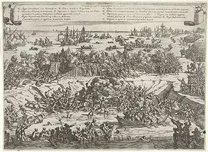 Timeline of Antwerp - Defeat of the rebels on the Kouwensteinsedijk, 26 May 1585