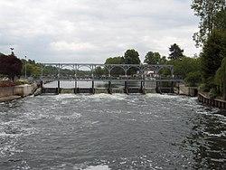 Sluice gates on the River Thames