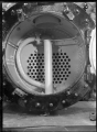 "Smokebox of E class locomotive (New Zealand Railways, number 175, 0-4-4-0T), ""Josephine"". ATLIB 295227.png"