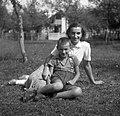 Smoličeva Mici s sinkom, Šentjernej 1952.jpg