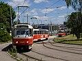 Smyčka Špejchar, Tatra T3R.P projíždí smyčkou.jpg