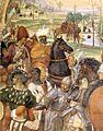Sodoma - Life of St Benedict, Scene 30 - Benedict Foretells the Destruction of Montecassino (detail) - WGA21580.jpg