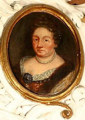 Zofia Czarnkowska Opalińska - Zofia Anna Czarnkowska, detail of a monument in the church of Sieraków