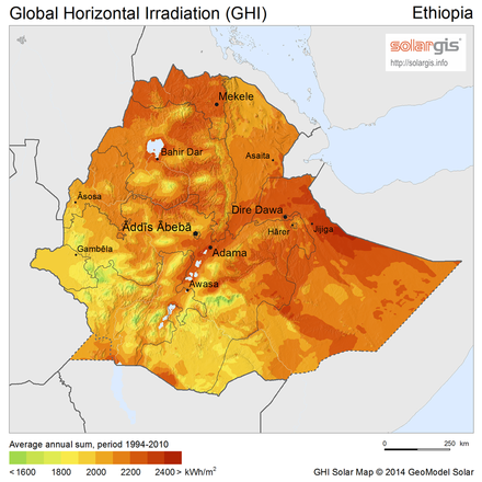 Electricity Grid Map Ethiopia