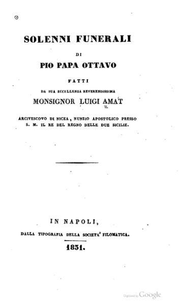 File:Solenni funerali di Pio papa ottavo (Amat).djvu