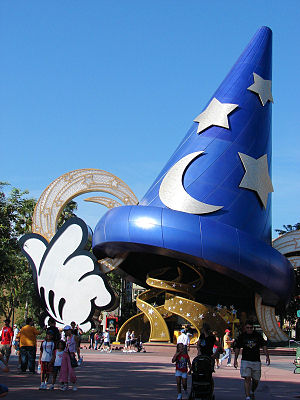 Disney's Hollywood Studios - The Sorcerer's Hat stood at the park's hub between 2001 and 2015.