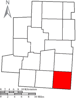 Location of South Bloomfield Township in Morrow County
