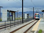 Southeast at South Jordan Parkway station platforms, Apr 16.jpg