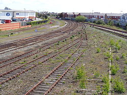 Southport-Wigan Line from the Victoria Bridge, Southport.jpg