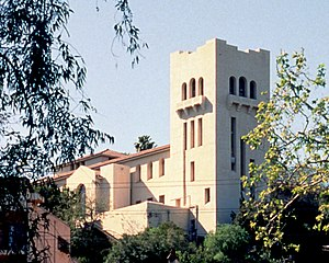 Southwest Museum of the American Indian - Southwest Museum from Sycamore-Grove Park