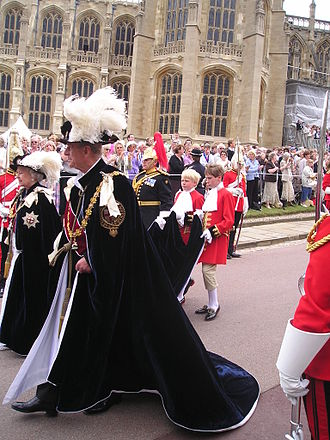 Page of Honour - Pages of Honour to Queen Elizabeth II in the procession to St George's Chapel, Windsor Castle during the annual service of the Order of the Garter, 2006.