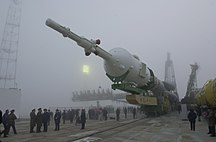 Soyuz tm-31 transported to launch pad.jpg