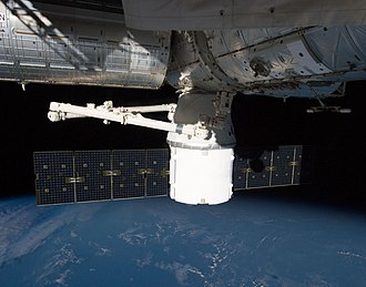 SpaceX CRS-1 - Dragon as seen from Cupola on 14 October 2012