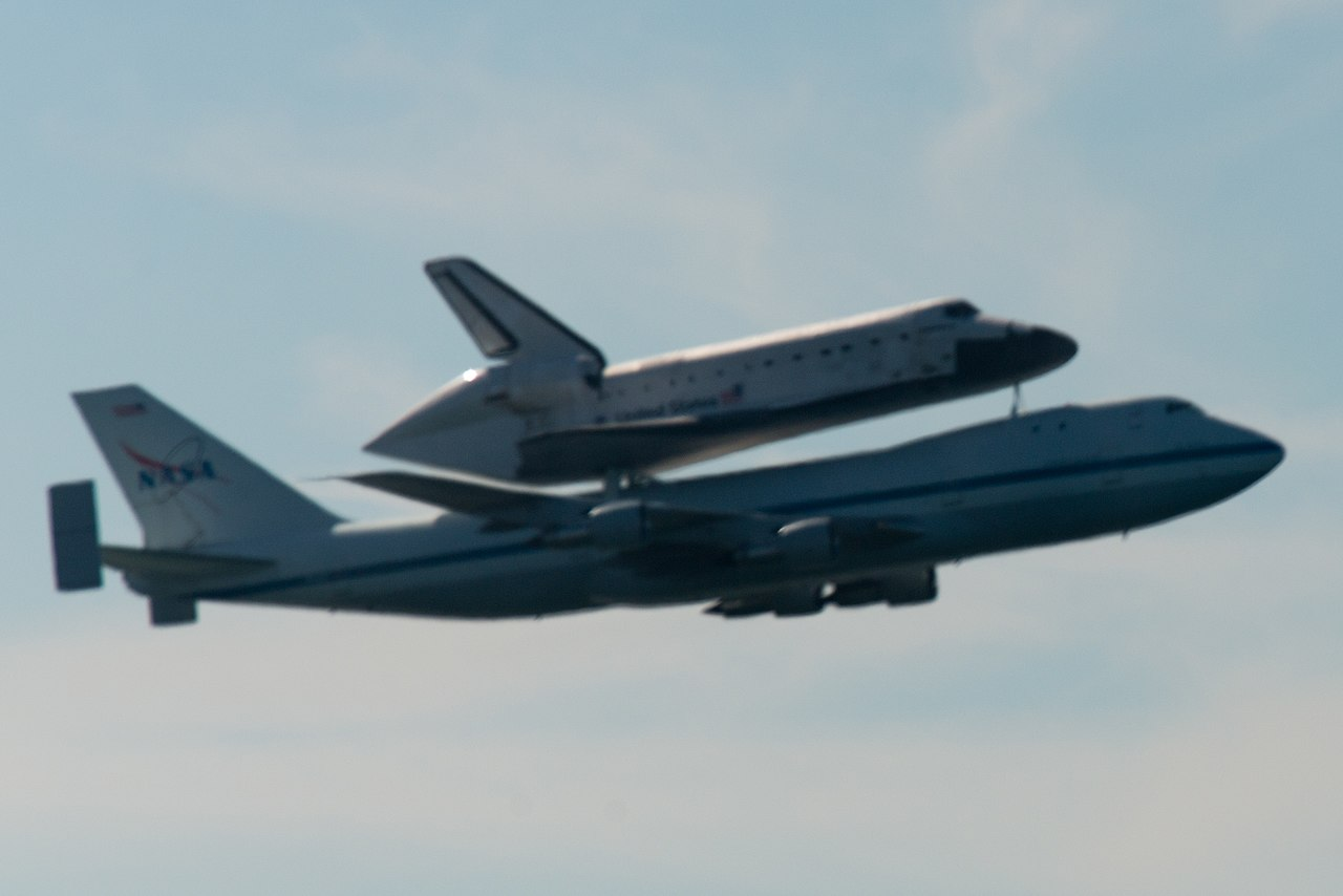 File:Space Shuttle Endeavour and carrier plane flying over ...