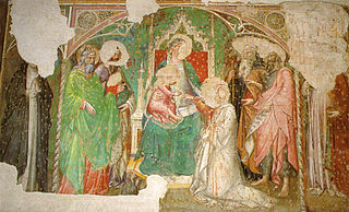 Mystical marriage of Saint Catherine