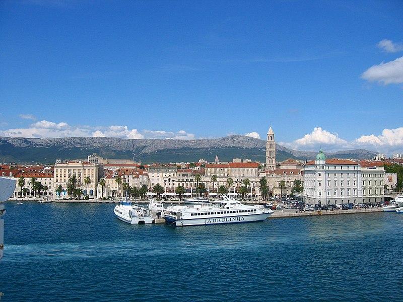 Split, Croatia from Ferry.JPG