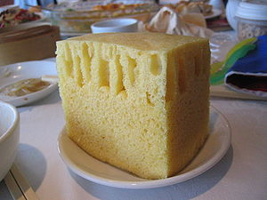 Sponge cake - Image: Sponge cake at Top Cantonese Restaurant