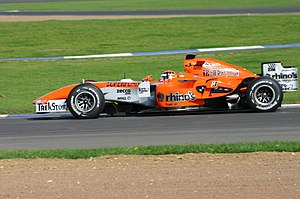 Midland F1 Racing - Christijan Albers driving a 2006 M16 in the late season Spyker livery.