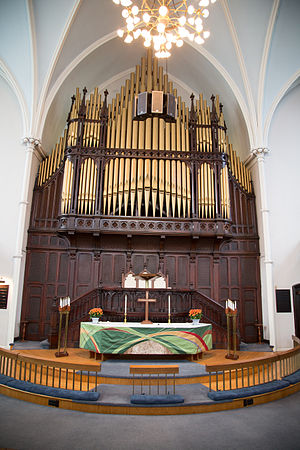 Grace Toronto Church - The pipe organ inside the building