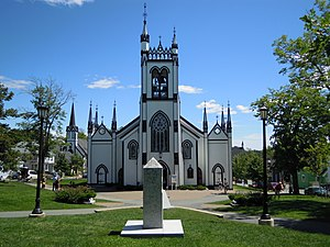 Lunenburg, Nova Scotia - St. John's Anglican Church, Lunenburg - built during the war (1754-1763)