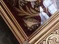 St. Magnus (Rammingen) Innen - Himmelfahrtsaltar Reliquiar 1 Schriftband 1.JPG