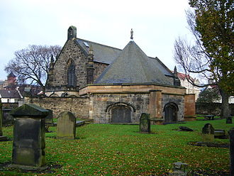 Restalrig - Restalrig Church with St. Triduana's Chapel in the foreground