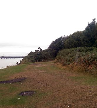 St Andrew's Castle, Hamble - The remains of the castle at high tide