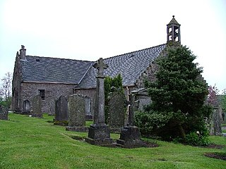 Fowlis Wester village in Perth and Kinross, Scotland