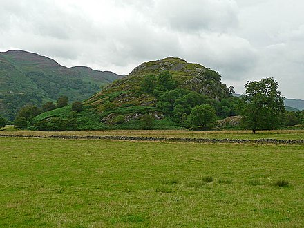The site of the mediaeval fortress of Dundurn, said to be the site of Giric's last stand. One possibility is that Eochaid perished with Giric here. St Fillan's Hill - geograph.org.uk - 945328.jpg