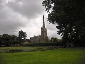 Kirkham, Lancashire - St Michael's Church, from Barnfield