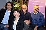 Stadtkulturpreis Hannover 2013 (010) Gruppenbild (v.l.) mit Erol Akbulut, Jasmin Arbabian-Vogel, Asghar Eslami und Sahabeddin Buz.jpg