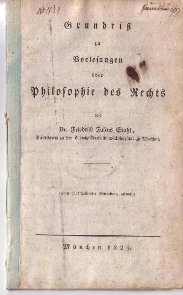File:Stahl Grundriß zu Vorlesungen über Philosophie des Rechts 1829.djvu