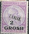 Stamp of Albania - 1914 - Colnect 377558 - Skanderbeg issue overprinted with Turkish Value and Takse.jpeg