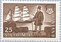 Stamp of Finland - 1955 - Colnect 46205 - 350 Years City of Oulu Uleaborg - Sailing ship - Ilma.jpeg