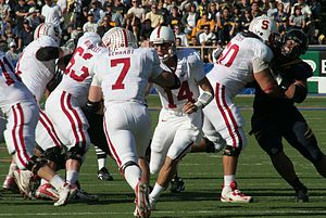 Toby Gerhart - Gerhart (no. 7) carries the ball during the 2008 Big Game against California.