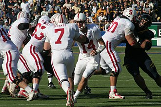 2009 Sun Bowl - Toby Gerhart taking a hand off from Tavita Pritchard in the 2008 Big Game against California.