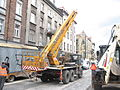 Star 266-based cherry picker during reconstruction of Długa street in Kraków (5).jpg